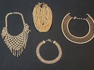 4 Vintage Fashion Necklaces