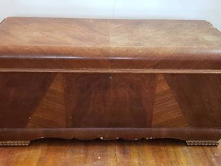 lane Waterfall Cedar lined Blanket Chest   47 x 19 x 22 in  tall   rough exterior and no key