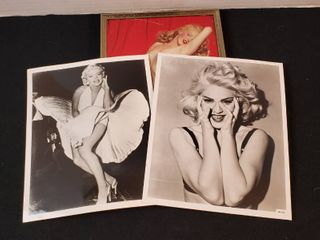 3 Female Celebrity Photos  2 Marilyn Monroe and 1 Madonna