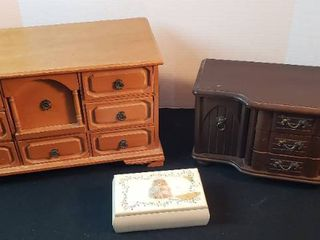 3 Wood Jewelry Boxes