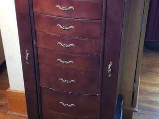 Jewelry Armoire   18 x 15 x 41 in  tall