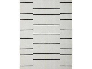 Mohawk Home Kenza Cream Grey Geometric Stripe Area Rug  Retail 147 99