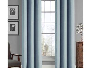 Solid Grommet Top Panel Pair Blue