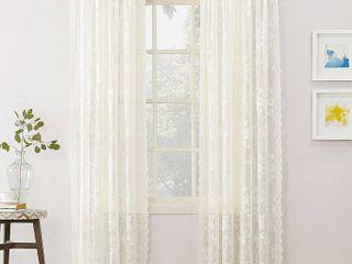 2 Alison Rod Pocket Curtain Panel Off White   Ivory  Beige Ivory   58 x84  No  918