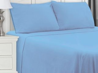 Extra Soft All Season 100  Cotton Flannel Solid Bedding Sheets   Pillowcases  4 Piece Sheet set by Impressions   Full