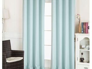 layne Textured Jacquard 54 x 90 in  Grommet Curtain Panel in Aqua