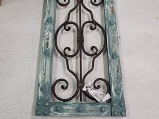 Antiqued Wood  Metal Wall Panel