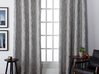 54 x96  Set of 2 Finesse Grommet Top Room Darkening Window Curtain Panels Ash Gray   Exclusive Home
