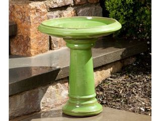 Alfresco Home Ischia Bird Bath Bowl  Chartreuse