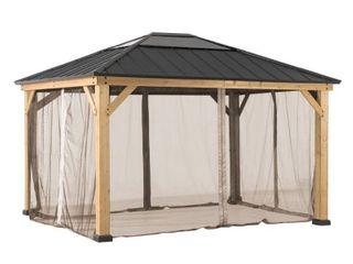 Original Manufacturer Sunjoy Universal Replacement Mosquito Netting for 12 Ft  x 14 Ft  Wood Gazebo  Retail 107 49