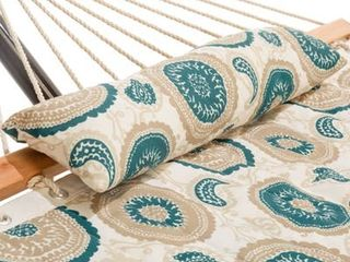 Small Single Quilted Hammock Combo with Pillow and Stand  Retail 123 99
