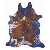 Cowhide Area Rugs ACID WASHED HAIR ON COWHI DISTRESSED NAVY BlUE 2   3 M GRADE A size   22   32 sqft     Big  Retail 494 99
