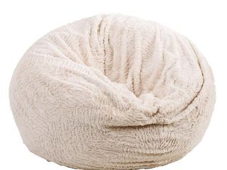 lePouf Brown White beanbag
