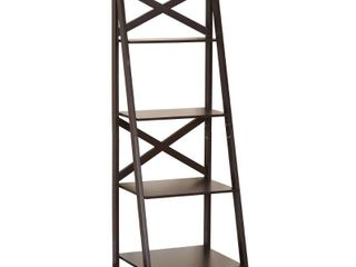 X 4 Tier Shelf  Multiple Finishes  Set of 2   Mix and Match
