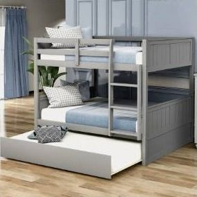 Taylor   Olive Vervain Full over Full Bunk Bed with Trundle