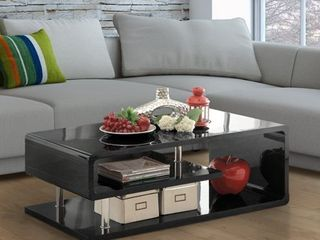 Furniture of America Inomata Modern Geometric High Gloss Coffee Table  Retail 336 77