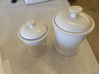 Bianca Scallop 2 Piece Canister Set