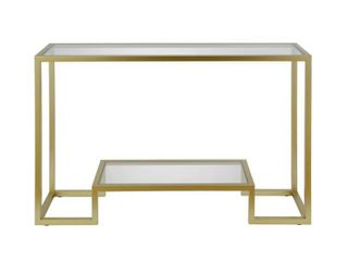 Athena Geometric luxe Console Table in Gold