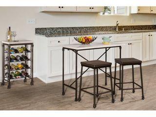 1 Hillsdale Furniture Castille Non Swivel Backless Counter Stool   Black  Retail 134 99