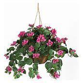 Bougainvillea Artificial Plant in Hanging Basket
