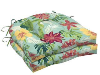 Arden Selections Elea Tropical Wicker Seat Cushion 2 pack   18 in l x 20 in W x 5 in H