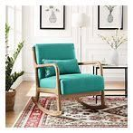 Upholstered Rocking Chair Padded Seat Fabric Rocker  Retail 248 49