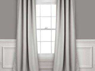 Set of 2  120l x52  Insulated Grommet Top Blackout Curtain Panels light Gray   lush Decor