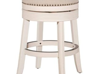 26  Saddle Backless Counter Height Barstool Rustic Gray Taupe Hillsdale Furniture