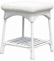 Jeco Outdoor Wicker Patio Furniture End Table