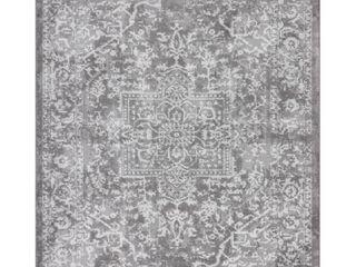 Tayse Rugs Nexus Gray 8  9  ft  x 12 ft  Oriental Polypropylene Area Rug