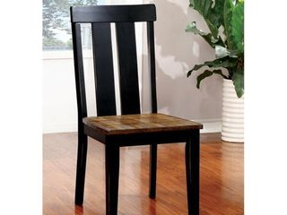 Furniture of America lara Farmhouse Black Side Chairs  Set of 2  Retail 229 99