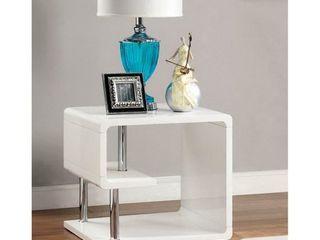 Furniture of America Inomata Modern Geometric High Gloss End Table  Retail 267 99
