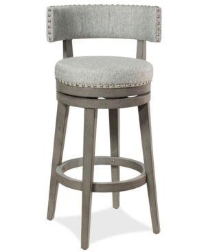 lawton Barstool Ash   Hillsdale Furniture Antique Grey