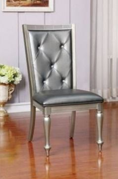 Furniture of America Tase Contemporary Silver Side Chairs  Set of 2  Retail 269 49