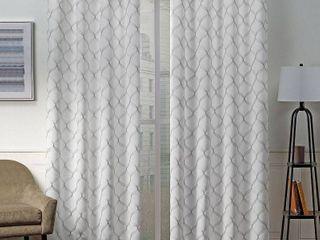 ATI Home Amelia Woven Blackout Grommet top Curtain Panel Pair