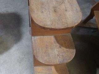 Very Old Oak 3 tier table