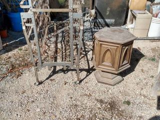 vintage rollout box spring and end table