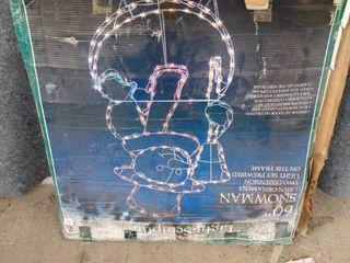 60 inch light up snowman