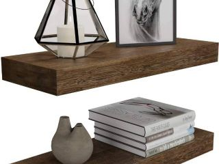 Two Floating Wall Shelves