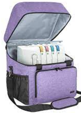 large Purple Insulated Cooler Bag