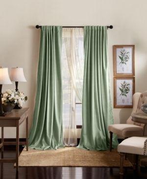 Martha Stewart lucca Velvet Blackout Back Tab Curtain Panel Pair Retail 96 49