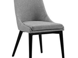 Viscount light Gray Fabric Dining Chair  Retail  193 00