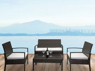 4 Piece Outdoor Patio Furniture Set Brown by Havenside Home Retail 269 99