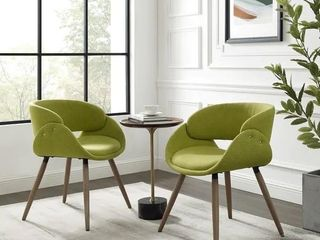 Corvus Mid Century Modern Accent Chairs  Set of 2   Retail 261 99
