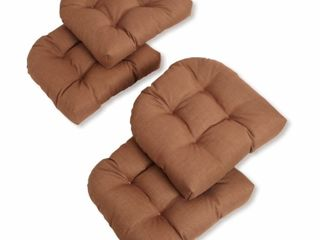 Blazing Needles 19 inch All Weather Chair Cushions  SET OF 2 CUSHIONS ONlY  Mocha  Retail   35 00