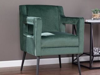 Silver Orchid Martell Contemporary Velvet Accent Chair Green Retail 283 49