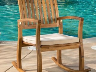lucca Outdoor Rocking Chair by Christopher Knight Home Retail   134 49