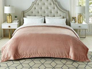 Cozy Time Reversible Microplush Twin Blanket Retail   50 32