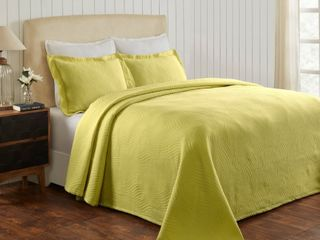 Miranda Haus laurence Cotton Jacquard Matelasse Bedspread Set  Retail 112 20