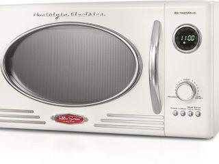 Nostalgia RMO4RR Retro 0 9 Cu  Ft  Microwave Oven  Retro White Retail 129 99